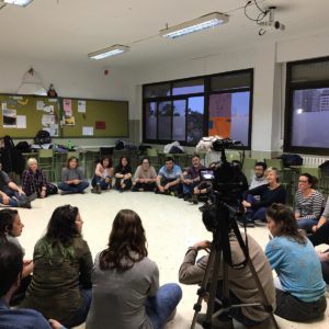Dinàmiques amb Groc Teatre, el grup de Trobades escèniques i l'IES Jordi de Sant Jordi